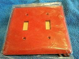 GE Red Hospital Wall Plate 2 Gang SWITCH Plate Cover, AND SC