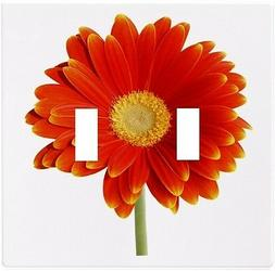 Red Orange Daisy Floral Wallplate Wall Plate Decorative Ligh