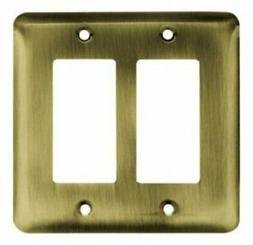 Brainerd Rounded Corner Double Decorator Wall Plate, Availab