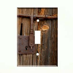 Rustic Barn Door Light Switch Plate Wall Cover Country Farm