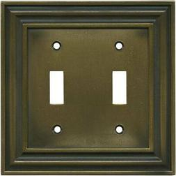 Brainerd Rustic Edges Tumbled Antique Brass  Wall Plates & O