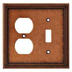 Ruston Single Switch/Duplex Wall Plate, Wall Lighting, Light