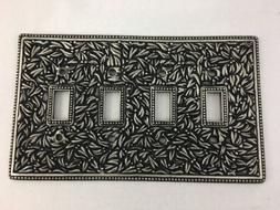 Vicenza Designs San Michele Wall Plate Jumbo Quad Toggle Ant