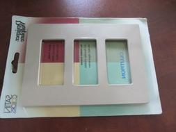 Lutron Satin colors designe Wall Plate Cover Standard 3 dese