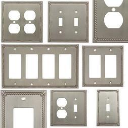 satin nickel switch wall plate duplex gfci