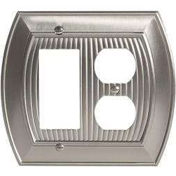 Satin Nickel Amerock Wall Plate Cover Toggle Rocker Plug All