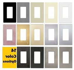 ENERLITES Screwless Decorator Switch or Outlet Wall Plate 1-