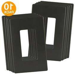 ENERLITES Screwless Decorator Wall Plates 1-Gang, Dark Bronz