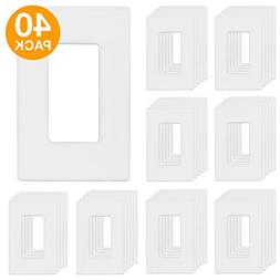 ENERLITES Screwless Decorator Wall Plates Child Safe Outlet