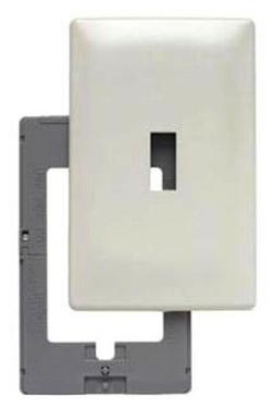 Screwless wall plate light almond 1 gang 1 toggle SWP1-LA pa