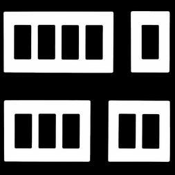 ENERLITES Screwless Decorator Wall Plate Receptacle Outlet C