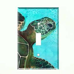 Sea Turtle Ocean Life Light Switch Plate Wall Cover Tropical