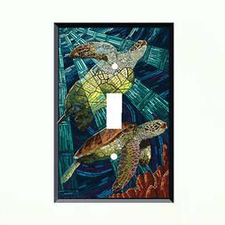 Sea Turtles Light Switch Plate Wall Cover Tropical Decor