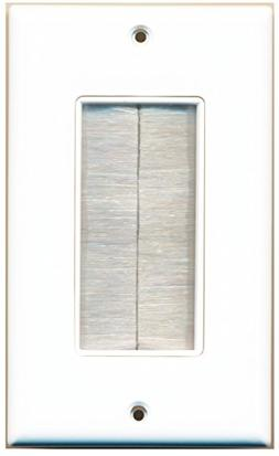 iMBAPrice® Single Gang Brush Wall Plate - One Gang Wall Pla
