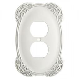 Single Duplex Arboresque White Single Outlet Wall Plate Fran