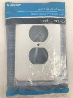 Single Duplex Wall Plate Stamped Steel Round 1-Gang Switch 6