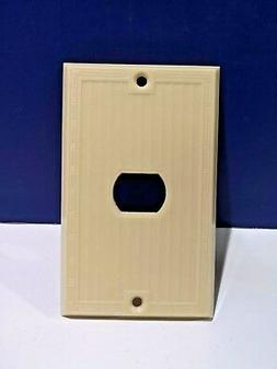 Single Gang IVORY WALL PLATE Horizontal Opening Plate For DE
