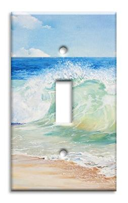 Art Plates Brand Single Toggle Switch / Wall Plate - Beach P