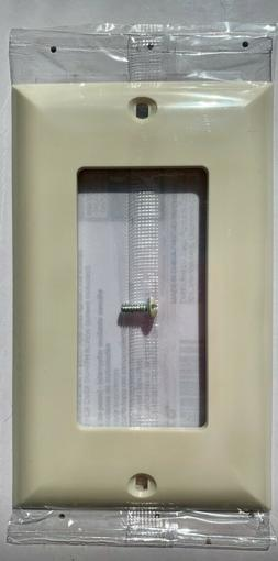 GE Single Rocker Wall Plate,Light Almond - 40053