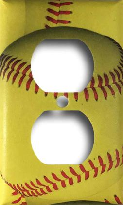 Softball Sports Decorative Outlet Wall Plate