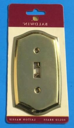 Baldwin Solid Brass Single Toggle Switch Plate Cover Colonia
