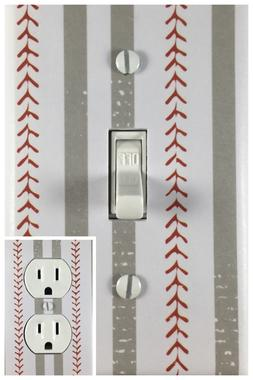 Sports Baseball Decor Single Toggle Decorative Light Switch