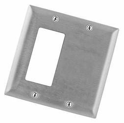 Bryant Electric SS1426 Metallic Wallplate, 2-Gang, 1 Blank 1
