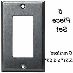Stainless Steel Oversized Wall Plate 1 Gang Decorator Outlet