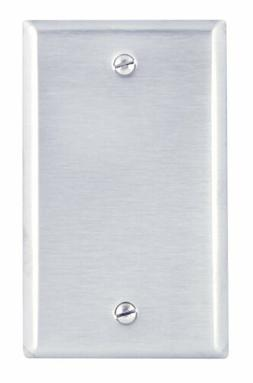 Leviton Stainless Steel Single Gang Blank Box Mount 003-8401