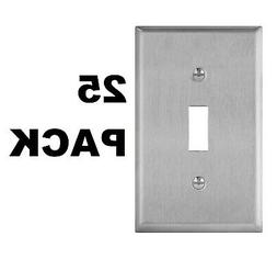 ENERLITES Toggle Light Switch Wall Plate 1-Gang 430 Stainles