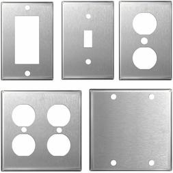 Stainless Steel Wall Plates Light Switch Covers - Blanks, To