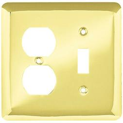 Stamped Round Single Switch/Duplex Wall Plate - Finish: Poli