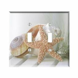 Starfish Seashell Light Switch Plate Wall Cover Tropical Dec