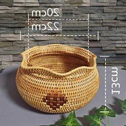 Storage Baskets - Vietnam Rattan Tea Point Box Handmade Frui