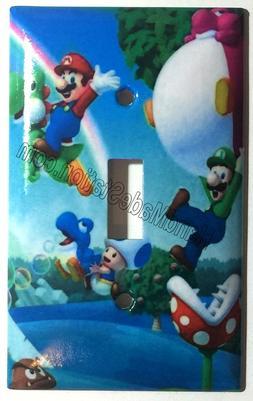 Super Mario Bro Light Switch Power Duplex Outlet Wall Plate