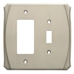 Switch Decorator Wall Plate Nickel Brainerd W34477