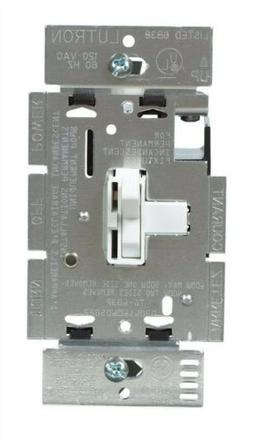 Lutron Switch Style Dimmer 3 Way On/Off 600 W White Csa Clam