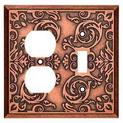 Copper Switch Duplex Wall Plate Fairhope Brainerd W27110-CPS