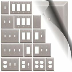 Switch Plate Cover Century Brushed Nickel Metal Wallplate To
