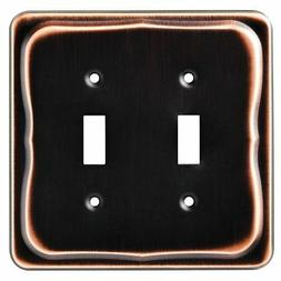 Brainerd Tenley Double Switch Wall Plate, Bronze