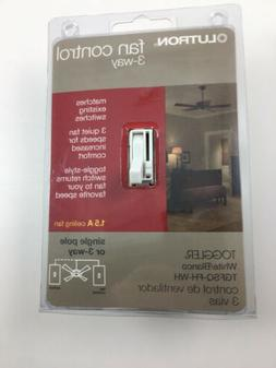 Lutron TGFSQ-FH-WH Toggler Fan Speed Control White