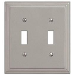 Hampton Bay Tiered 2 Toggle Satin Nickel Cast Rectangle Elec