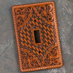 Tooled Leather Single Switch Cover