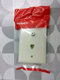TPTELTVLA Light Almond 1-F Type Coax Connector 1-Telephone J