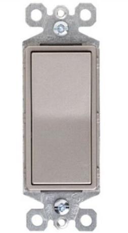 Pass & Seymour TradeMaster 15A 3-Way Decorator Switch, Nicke