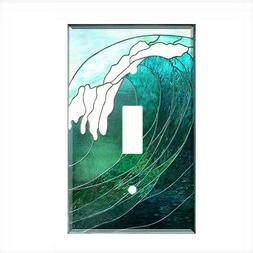 Tropical Ocean Wave Light Switch Plate Wall Cover Nautical D