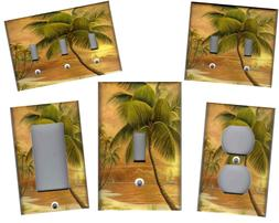 TROPICAL PALM TREE IN PARADISE No.2 HOME WALL DECOR LIGHT SW