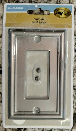 "Two Ascher brushed ""Nickel Finish"" wall plates by Hampto"