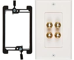 Buyer's Point Two Speaker Wall Plate, Premium Quality Gold P