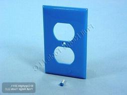 Leviton UNBREAKABLE BLUE Receptacle Wallplate Nylon Duplex O